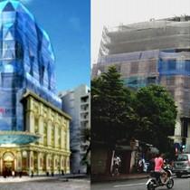 """Cận cảnh dự án tòa nhà """"dát vàng"""" của Doji đang nằm """"đắp chiếu"""""""
