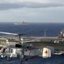 """Hơn 50 tàu NATO """"hộ tống"""" tàu sân bay Nga Đô đốc Kuznetsov trong chiến dịch ở Syria"""