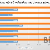 Tỷ giá USD/VND tại ngân hàng rục rịch tăng