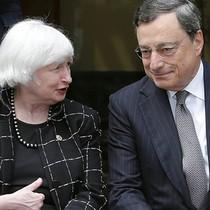 Đồng USD tăng giá chờ bài phát biểu của lãnh đạo Fed, ECB