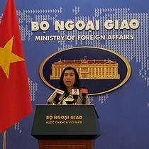 Người phát ngôn: Việt Nam phản đối Đài Loan tập trận bắn đạn thật ở đảo Ba Bình