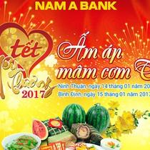 Nam A Bank chuẩn bị mâm cơm tết cho bà con nghèo miền Trung