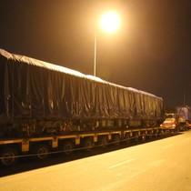 4 toa đầu tiên tàu đường sắt Cát Linh - Hà Đông về Hà Nội