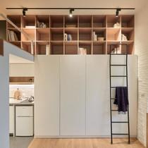 Căn hộ 21 m2 ấm cúng cho người thích đọc sách