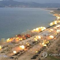 Hơn 300 khẩu pháo Triều Tiên đồng loạt nã đạn về phía biển