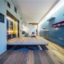 Căn hộ 30m2 thoáng rộng nhờ giấu nội thất dưới sàn