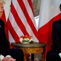 Tổng thống Pháp nhại khẩu hiệu tranh cử của ông Trump