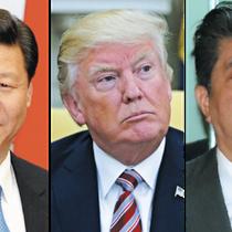 Ông Trump điện đàm với lãnh đạo Trung, Nhật về Triều Tiên