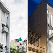 Ngôi nhà Sài Gòn có mặt tiền mềm mại như dải lụa