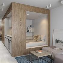 """Thiết kế nội thất căn hộ 30m2 """"chất lừ"""" dành cho người độc thân"""