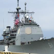 Mỹ điều tuần dương hạm tới gần bán đảo Triều Tiên