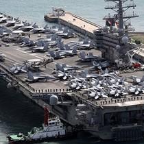 Tàu sân bay Mỹ cập cảng Hàn Quốc