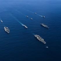 Ba tàu sân bay Mỹ lần đầu cùng phô diễn sức mạnh ở Thái Bình Dương