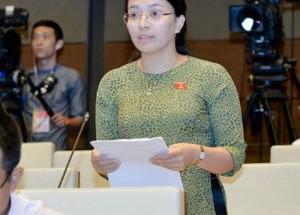 Bà Hoàng Thị Thu Trang -  Đại biểu Quốc hội đoàn Nghệ An
