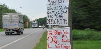 Cắm biển khuyến cáo người dân không mua bán đất nền ở 4 xã quanh sân bay Long Thành