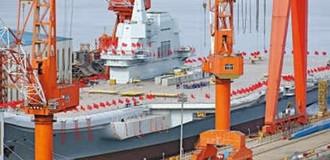 Trung Quốc hạ thủy tàu sân bay tự đóng đầu tiên
