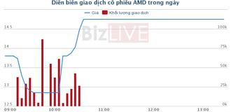 Cổ phiếu AMD lãi lớn trong ngày