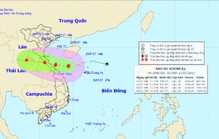 Chiều tối nay, bão số 4 sẽ đổ bộ Hà Tĩnh, Quảng Trị