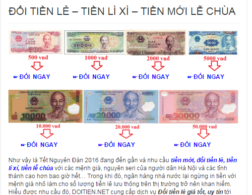 nhu cau, nguoi dan, Ngan hang Nha nuoc, doi tien le online, Tet Nguyen dan