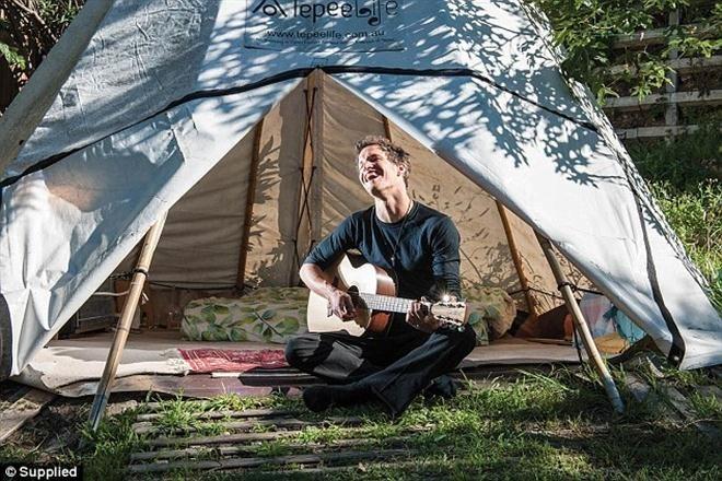 Ngôi lều nơi Marten thường ngủ.