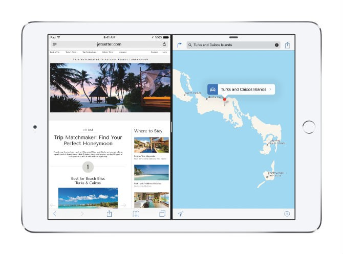 Tính năng đa nhiệm Split View chỉ hoạt động trên iPad Air 2