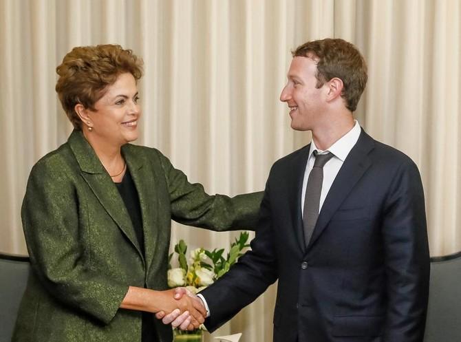 Bên cạnh những người nổi tiếng công nghệ cao khác, Zuck thường xuyên đáp ứng với những người quan trọng khác như Tổng thống Brazil, Dilma Rousseff ...