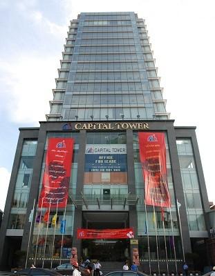 Tòa nhà Capital Tower thuộc sở hữu của công ty nơi ông Tạ Bá Long làm chủ tịch