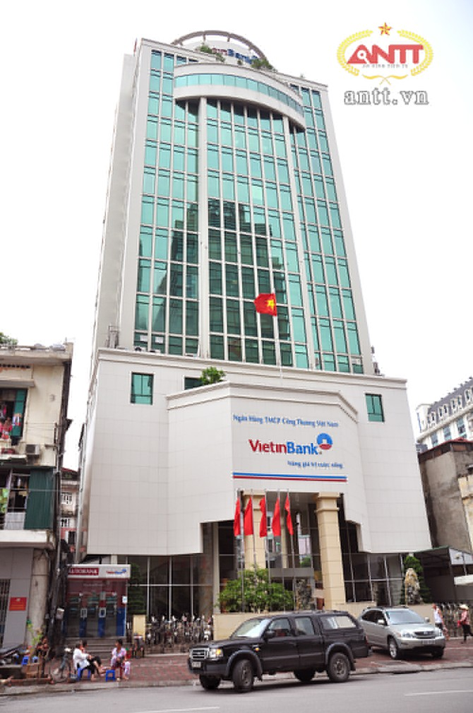 Hội sở chính hiện nay của Vietinbank tại phố Trần Hưng Đạo