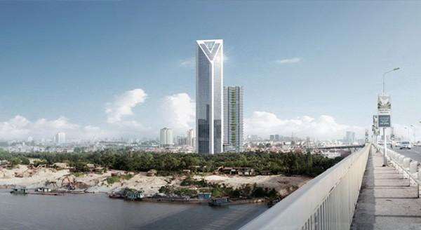 Tòa tháp Vietinbank trong mơ bên cạnh khu đô thị Cipucha