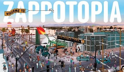 Hình ảnh mô phỏng trụ sở của Zappos trong tương lai tại trung tâm thành phố Las Vegas