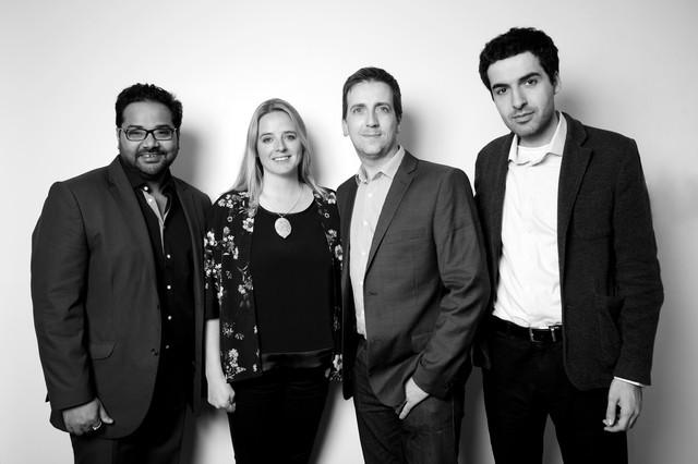 Các nhà đồng sáng lập Blippar: Ambarish Mitra, Jess Butcher, Steve Spencer và Omar Tayeb.