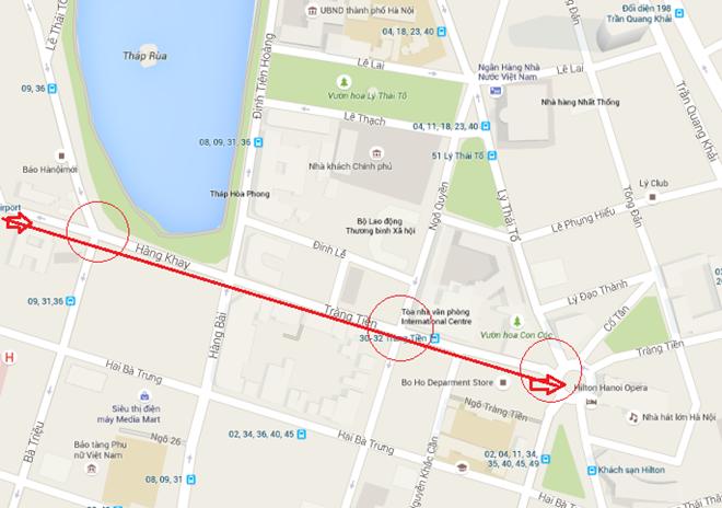 Dọc phố Hàng Khay - Tràng Tiền tới Nhà hát Lớn có nhiều điểm xem diễu binh lý tưởng.