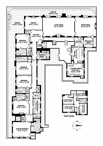 16 phòng của căn penthouse được chia ra thành 5 phòng ngủ, 8 phòng tắm và nhiều phòng tiện ích khác.