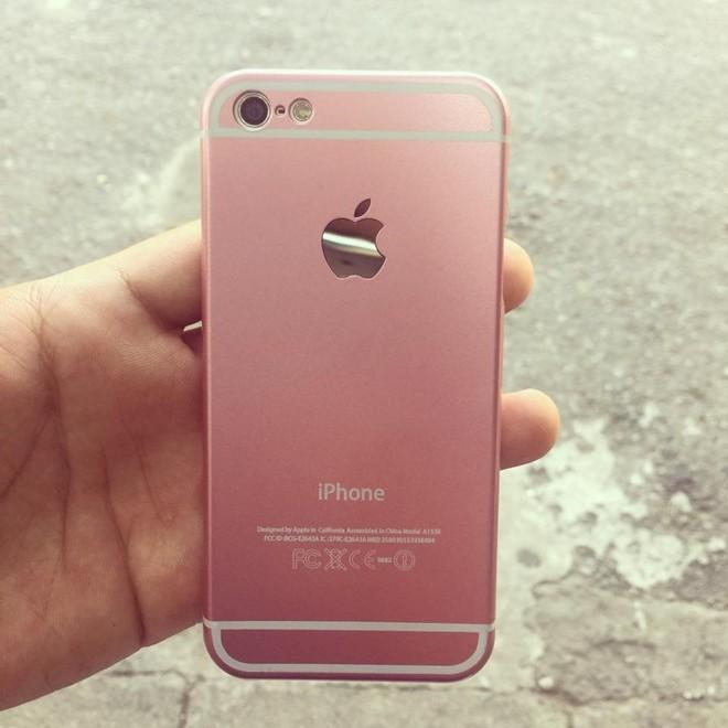 Vỏ ốp iPhone 6S giả màu vàng hồng khiến nhiều tín đồ săn mua