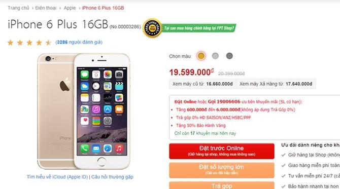 Apple ngưng bán iPhone 5S/6 gold, thị trường Việt Nam tăng giá bán - ảnh 2