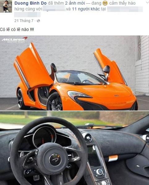 Hé lộ về đại gia mua siêu xe McLaren 650S đầu tiên ở VN - Ảnh 1