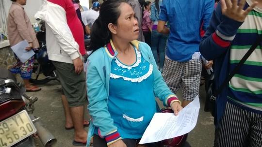 Chị Nguyễn Thanh Nhàn, đang mang thai tháng thứ 9, là một trong 96 trường hợp nữ CN thai sản, mang thai có nguy cơ mất trắng chế độ thai sản.