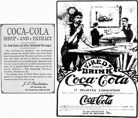 Mẫu quảng cáo đầu tiên của Coca-Cola.