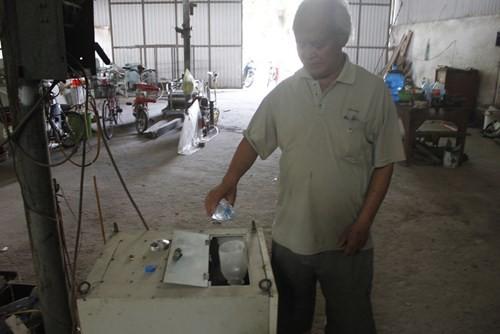 Ông Khánh và chiếc máy tách Hidro, ô xy từ nước