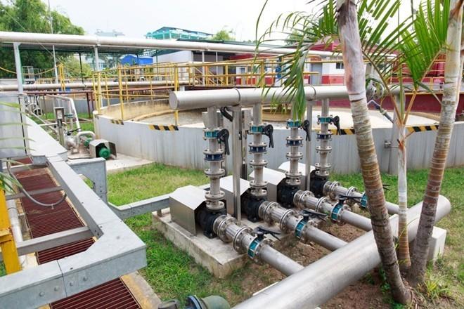 Hệ thống xử lý nước thải tiên tiến với công nghệ xử lý màng sinh học (MBR) cho chất lượng nước đầu ra đạt tiêu chuẩn A.