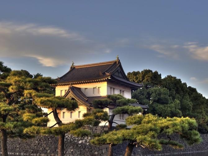 The Imperial Palace nằm ở giữa Tokyo, nhưng bên trong một công viên rộng lớn được bao quanh bởi một con hào và tường đá dày. Đó là nhà của Nhật hoàng Akihito và gia đình của mình.