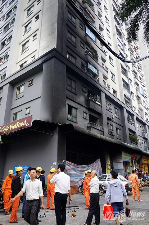 Tòa nhà CT4, Khu đô thị Xa La bị cháy ngày 11/10