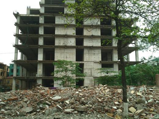 Đây là hình ảnh tòa chung cư tháng 4/2014 sau khi dự án khởi công được 5 năm