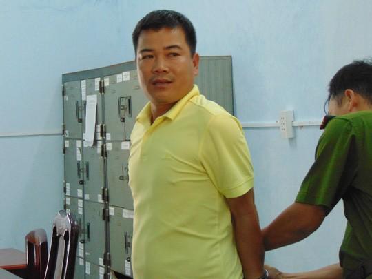 Đối tượng Bùi Văn Mạnh bị bắt giữ tại cơ quan điều tra