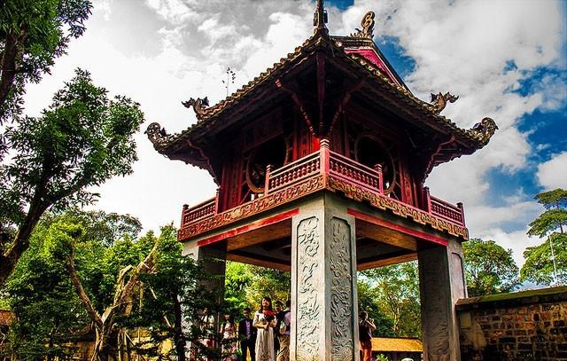 Văn Miếu - Quốc Tử Giám ở Hà Nội ghi dấu về đạo học của người Việt.