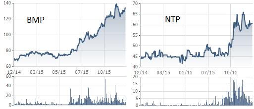 BMP, NTP tăng mạnh trong 1 năm qua