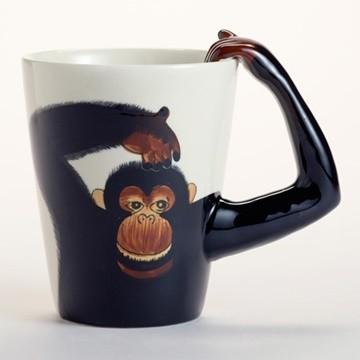 Chiếc cốc hình khỉ ngộ nghĩnh cho những người yêu khỉ.
