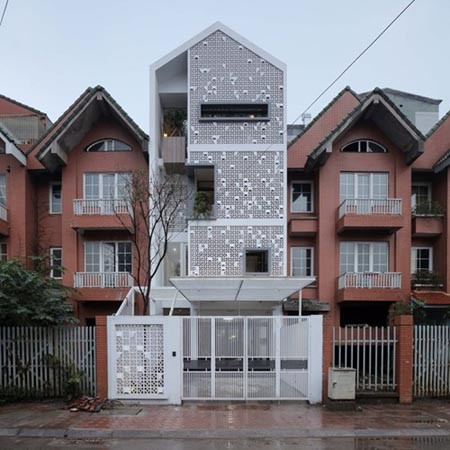 nhà trắng tinh khôi, ngôi nhà Cocoon House, tạp chí kiến trúc Mỹ ArchDaily