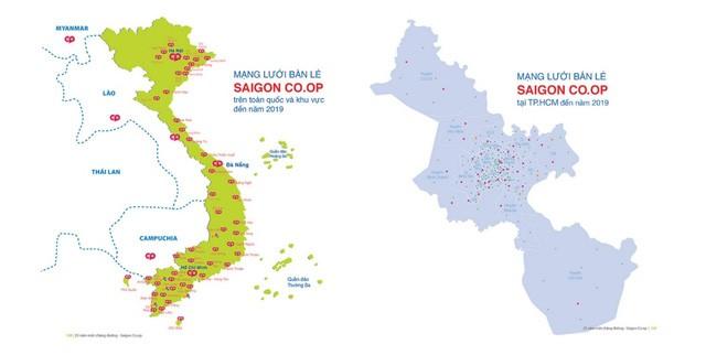 Mạng lưới bán lẻ dự kiến của Sài Gòn Co.op đến năm 2019