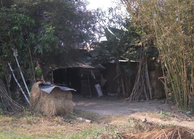 Hình ảnh sống tạm bợ thường thấy khi đến khu vực dự án.